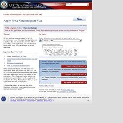 Formulaire de Demande de Visa - DS160