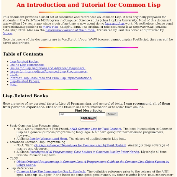guide lisp complete common