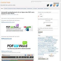 Convertir fichier pdf en xls gratuit - Convertir fichier pdf en open office ...